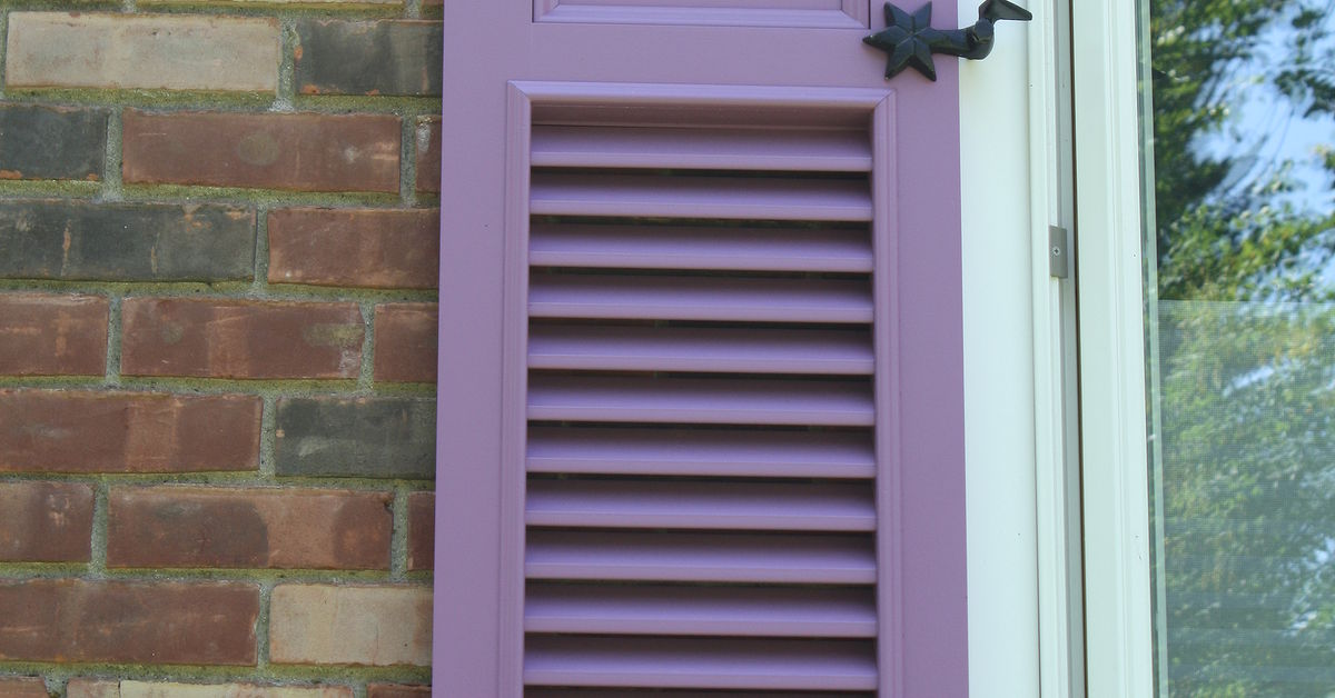My Custom Purple Shutters Hometalk