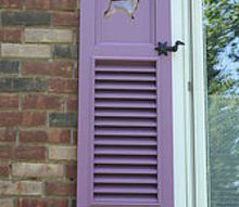 my custom purple shutters, curb appeal, windows, My funky purple shutters