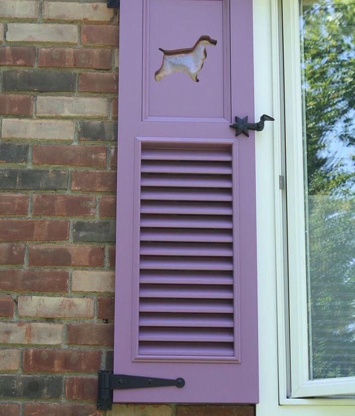 My funky purple shutters
