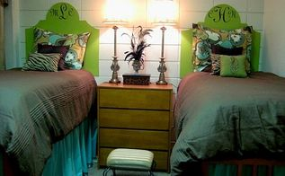inexpensive dorm room decor, bedroom ideas, home decor, Poster Board for headboard