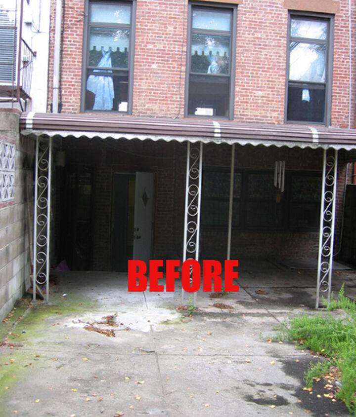 Rear facade before renovation