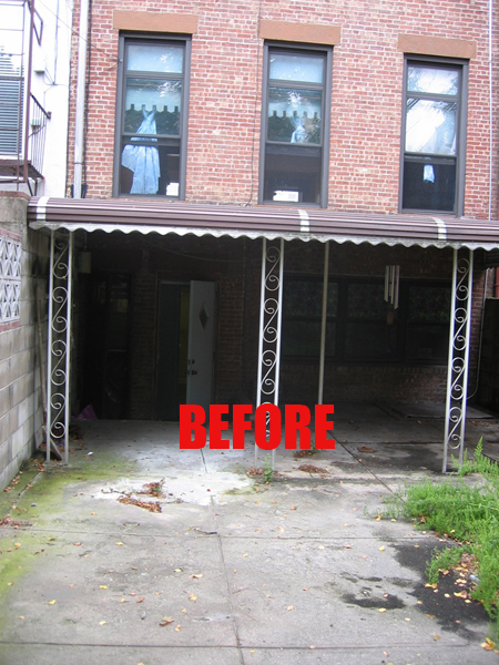 Rear facade before renovation