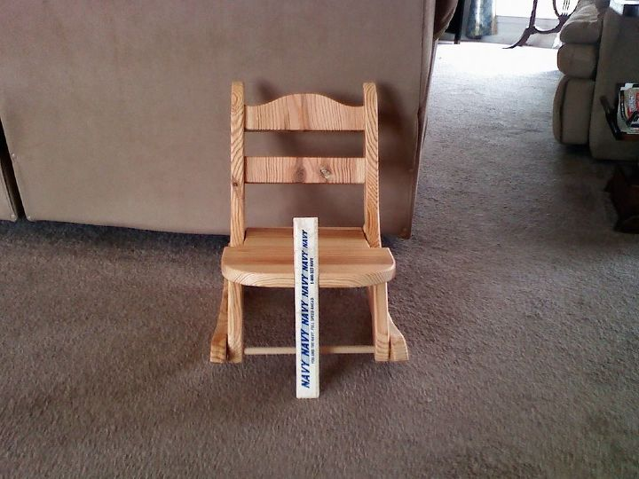 Kids folding rocking chair