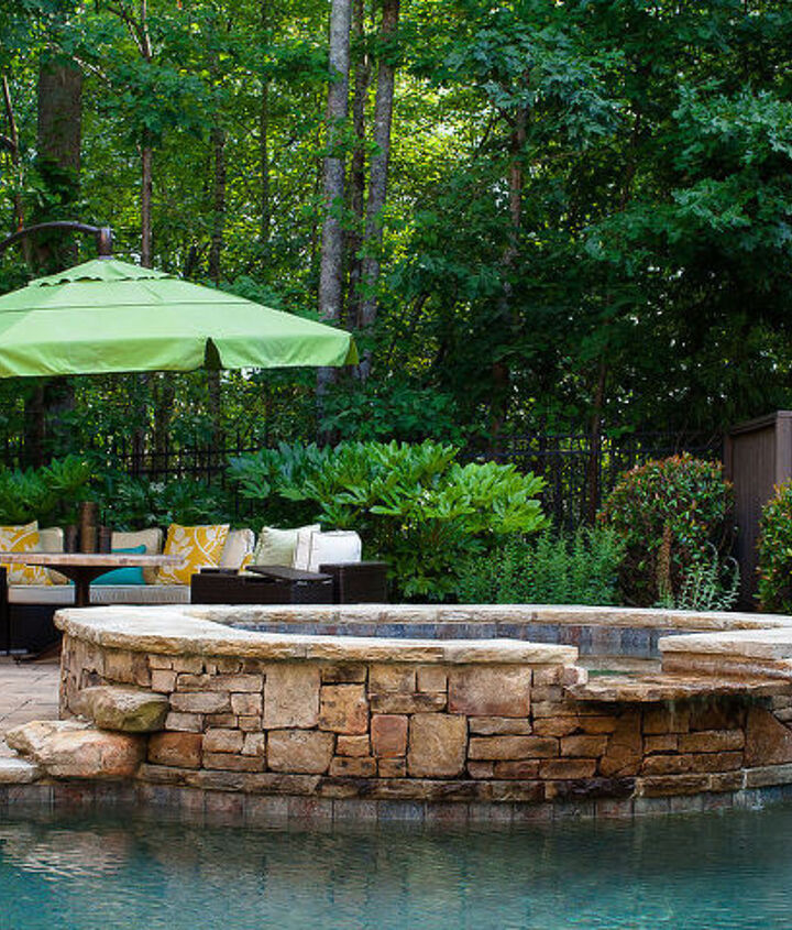 recent outdoor living project, outdoor living, pool designs