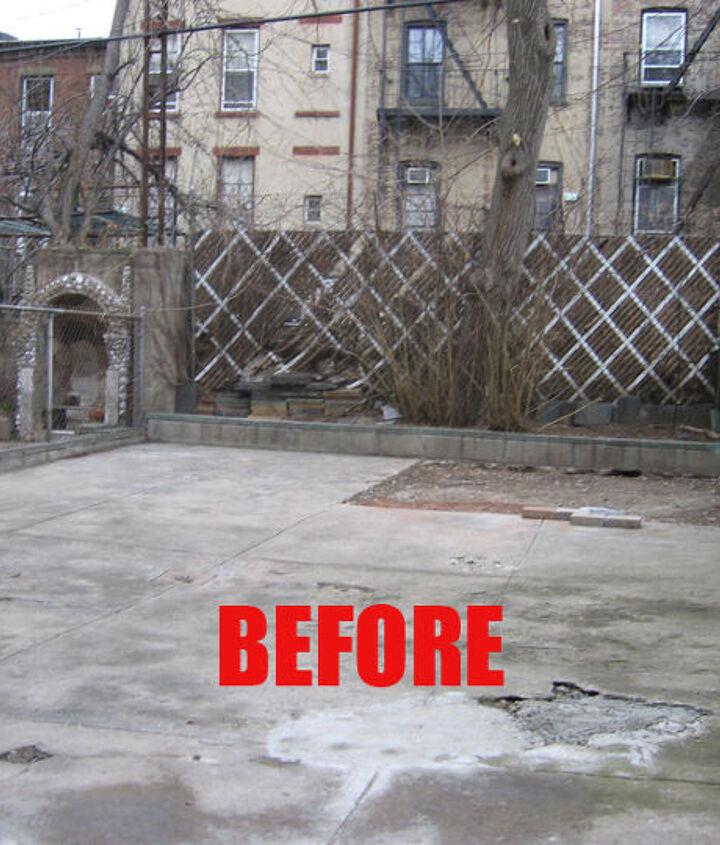 Rear yard before renovation
