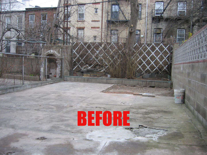 Rear yard before renovation