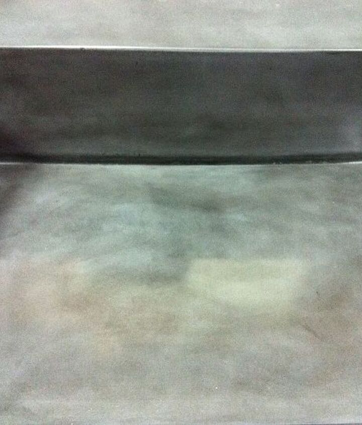 concrete ramp sink with slot drain close up of slot, home decor