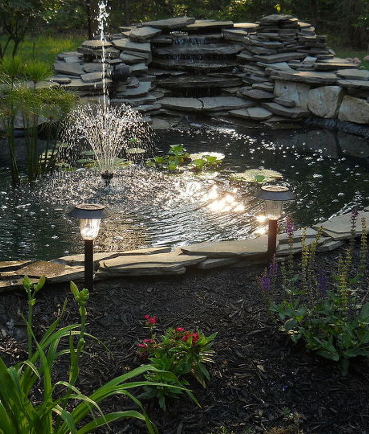 flagstone patio, concrete masonry, outdoor living, patio, ponds water features