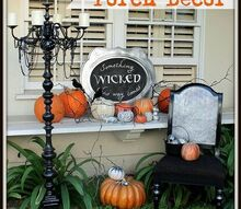 a spooky front porch and entry, halloween decorations, porches, seasonal holiday decor, Lots of fun spooky decor for the front of our house