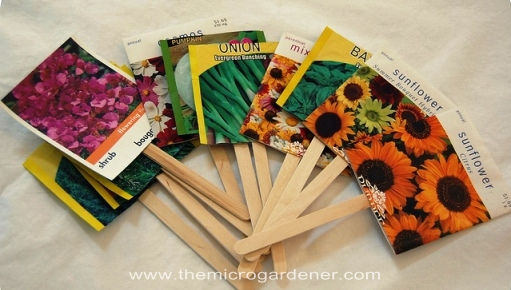 Seed packet markers