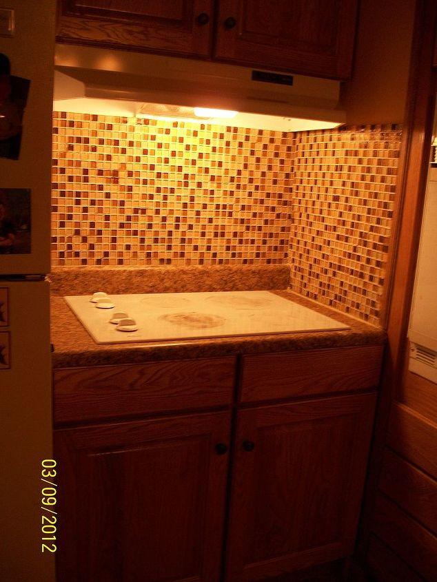 just remodeled this year i mostly love the glass mosiac backsplash and am thinking, home decor, kitchen backsplash, kitchen design