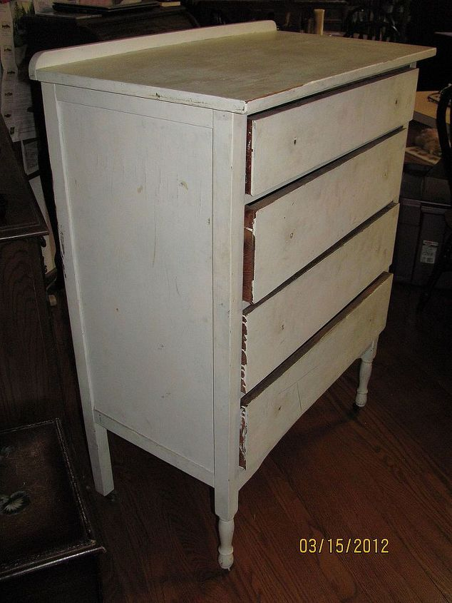 This old dresser looks pretty tough, but there's a lot of life left.