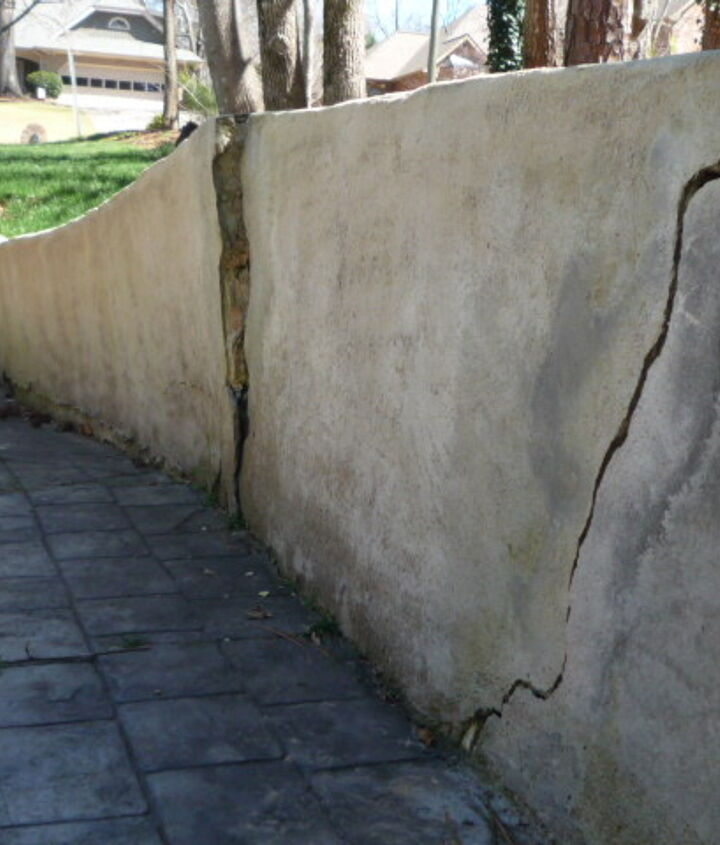 q i really want to remove part of the retaining wall, concrete masonry, fences, outdoor living