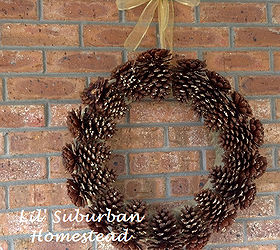 Too Many Pine Cones In Your Yard Make A Diy Pinecone Wreath, Crafts,  Seasonal