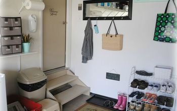 no mudroom i created one in my garage, garages, home decor, laundry rooms, storage ideas, My new mudroom