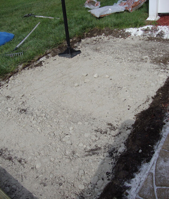 Patio paver sand with tamping complete.