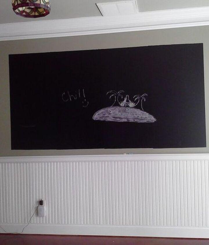 """""""Easy"""" chalkboard....not so much!"""