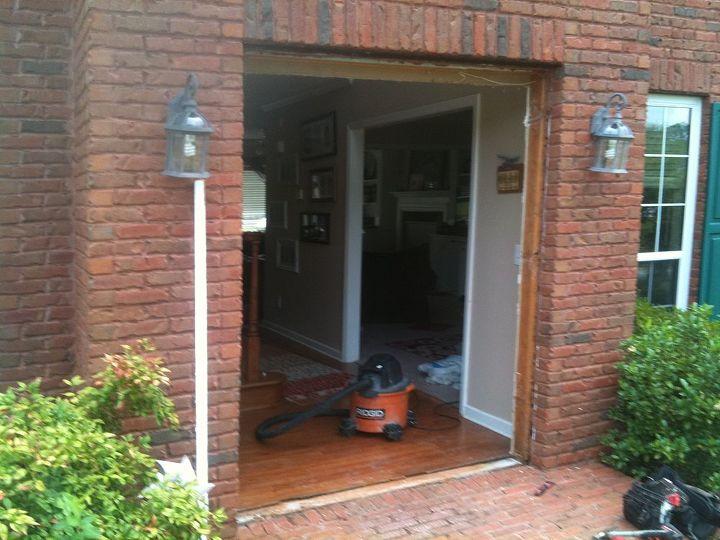 new front door with sidelights, doors, electrical, lighting