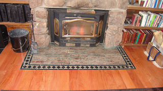 q how to build a solid granite stone hearth for underneath a wood stove, concrete masonry, granite tile with border