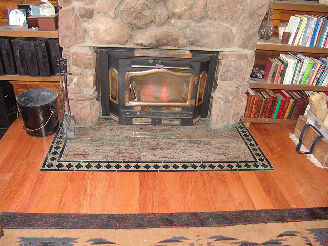 How To Build A Solid Granite Stone Hearth For Underneath A