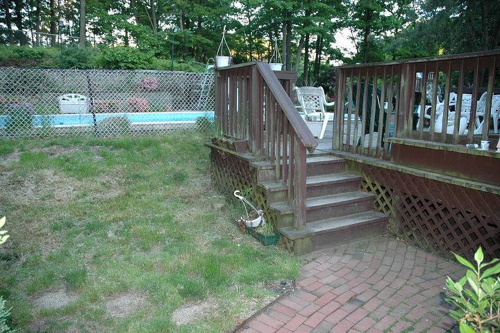 BEFORE photo of backyard prior to renovation