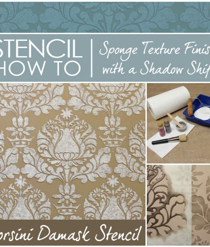 Stencil How To: Sponge Texture Finish with a Shadow Shift effect http://www.royaldesignstudio.com/blogs/how-to-stencil/7973661-stencil-how-to-easy-sponge-roller-texture-and-stencil-shadow-shift