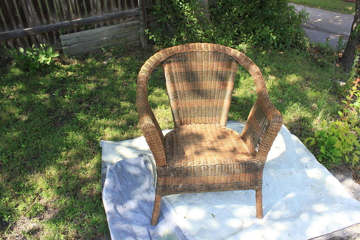porch chair makeover, painted furniture
