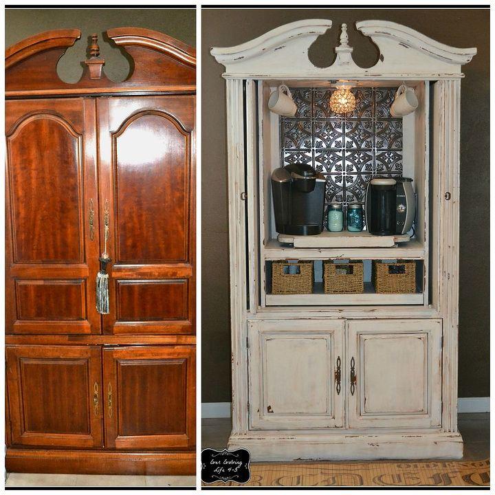 Repurposing an old t v armoire hometalk - Restaurar armario antiguo ...