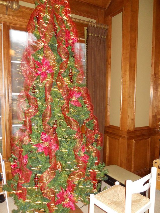 q as i promised here is more holiday decor featured below is a tree that i did last, christmas decorations, seasonal holiday decor, In process