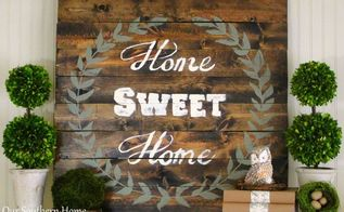 home sweet home sign with annie sloan chalk paint, chalk paint, crafts, home decor, living room ideas, painting, woodworking projects, Great for spring and summer