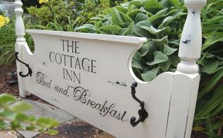 another use for an old headboard, gardening, repurposing upcycling, So charming