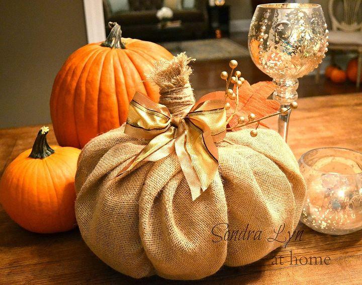 how to make a burlap pumpkin, crafts, seasonal holiday decor