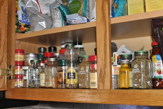 spice cabinet reorganization, cleaning tips, kitchen cabinets, kitchen design, storage ideas, Before