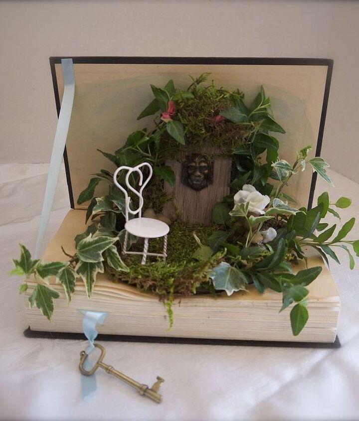 A mini garden in a book