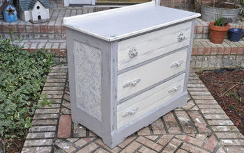 Dumpster to Rustic Diva Dresser/ How to Use Wallpaper on Furniture