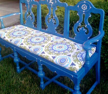 chair bench, painted furniture, repurposing upcycling, Custom Pad for Chair Bench