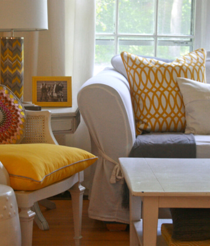 Yellow and Gray in my living room