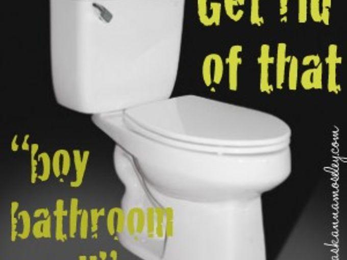 getting rid of that boy bathroom smell, bathroom ideas, cleaning tips