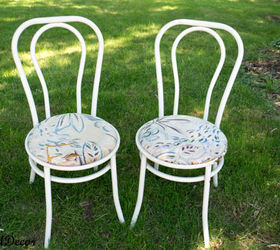 How To Paint Rusted Metal Chairs, Painted Furniture, Before Picked Out Of  The Neighbors