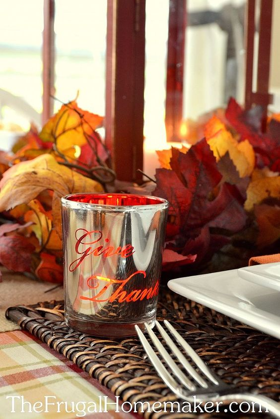 """Picked up these mercury glass votives several years ago (BHG line at Walmart yet again) and they are one of my favorite things in my """"fall stash"""""""