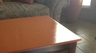 q the top of this credenza was water damaged beyond repair i took my heat gun and, painted furniture, woodworking projects, I tried to jinclude mu couch so that you can see the muted shades with the bit of tangerine or orange