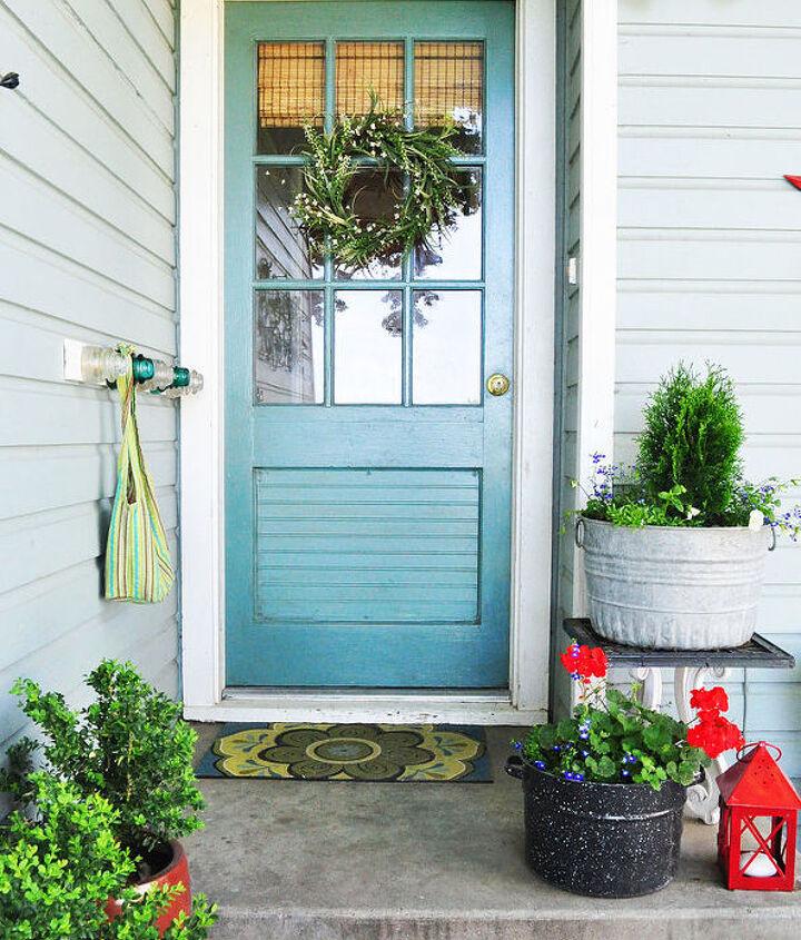 My turquoise back door.