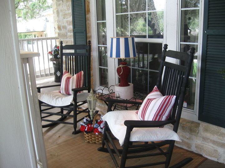 an updated lamp for the summer porch, outdoor living, porches, repurposing upcycling