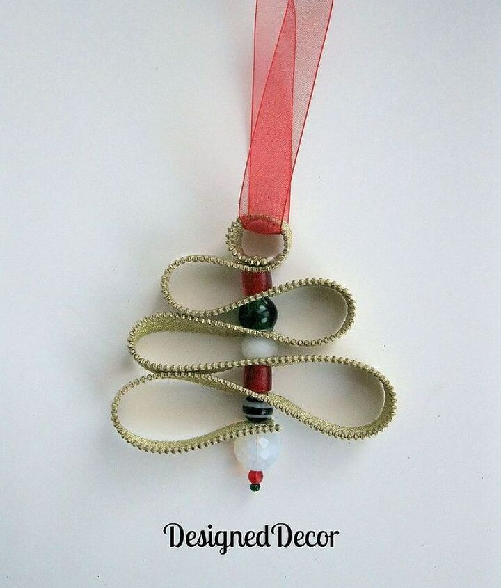 zipper christmas tree ornament, christmas decorations, crafts, seasonal holiday decor