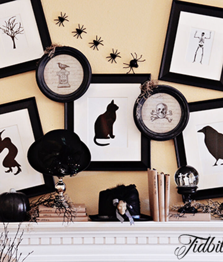 I downloaded free clipart and sized the images to fit the picture frames.