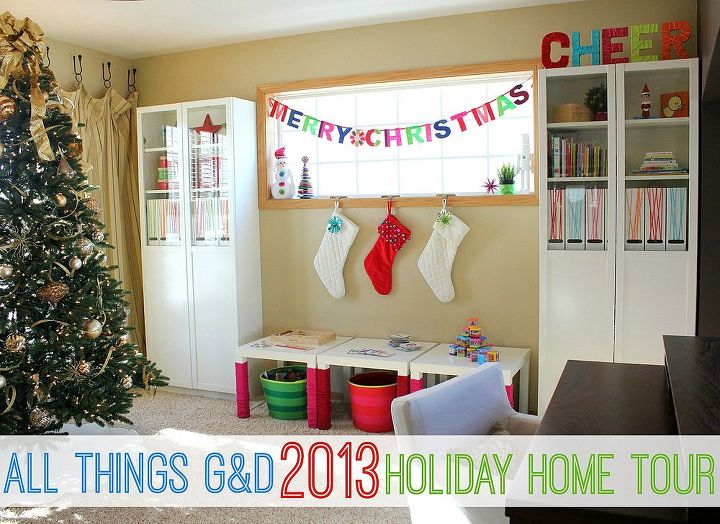 A look at our colorful Christmas home, filled with lots of love, fun, and DIY!