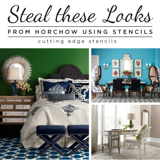 steal these looks from horchow using stencils, bedroom ideas, home decor, living room ideas, painted furniture, Cutting Edge Stencils shares stencil projects and color combinations to steal the look of our favorite Horchow home decor items