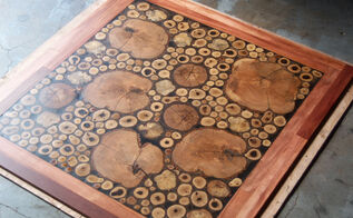 burl floor handmade, diy, flooring, woodworking projects, The finished Log Floor