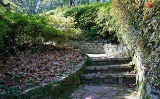 natural pathways how to cover a garden walkway in an eco friendly way, landscape, outdoor living, Natural stone can make a gorgeous and timeless pathway in your garden