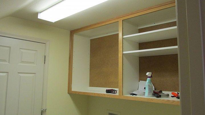 BEFORE: Oak modern cabinets.